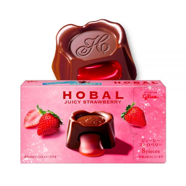 GLICO Hobal Strawberry Sauce Chocolate Made in Japan