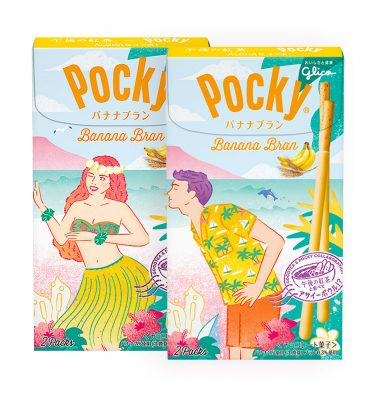 Glico Pocky Aloha Banana Bran Limited Edition Made in Japan