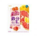 MEIJI Fruit Gumi Gummy Candy Collagen 3700mg Grapefruits Made in Japan