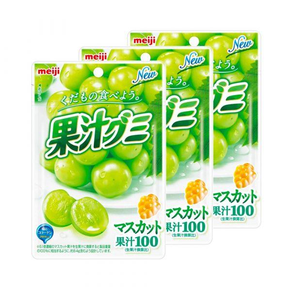 MEIJI Fruit Gumi Gummy Candy Muscat Collagen Made in Japan