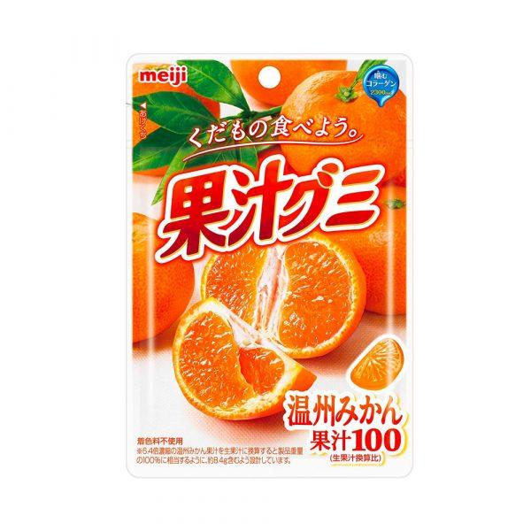MEIJI Fruit Gumi Gummy Candy Orange 51g Made in Japan