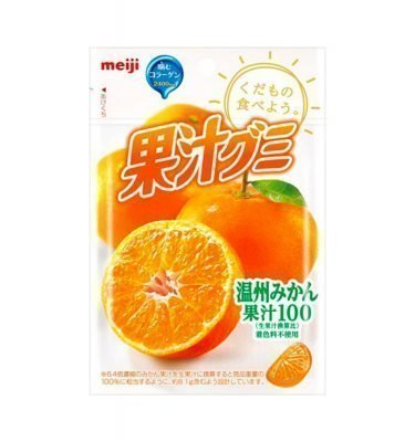 MEIJI Fruit Gumi Gummy Candy Orange 51g Made in Japan