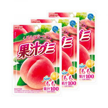 MEIJI Fruit Gumi Gummy Candy Peach 47g Made in Japan
