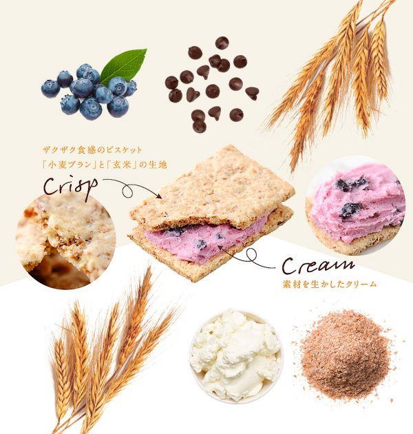 ASAHI Cream Brown Rice Blanc Chocolate Healthy Snacks Made in Japan