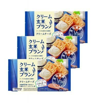 ASAHI Cream Brown Rice Blanc Mascarpone Cheese Healthy Snacks Made in Japan