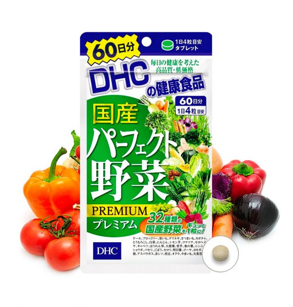 DHC Premium Perfect Vegetables 60 Days 240 Grains Made in Japan