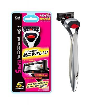 KAI Razor 5 Safety Rasor Kai5 Dark Night Holder With Blade Made in Japan