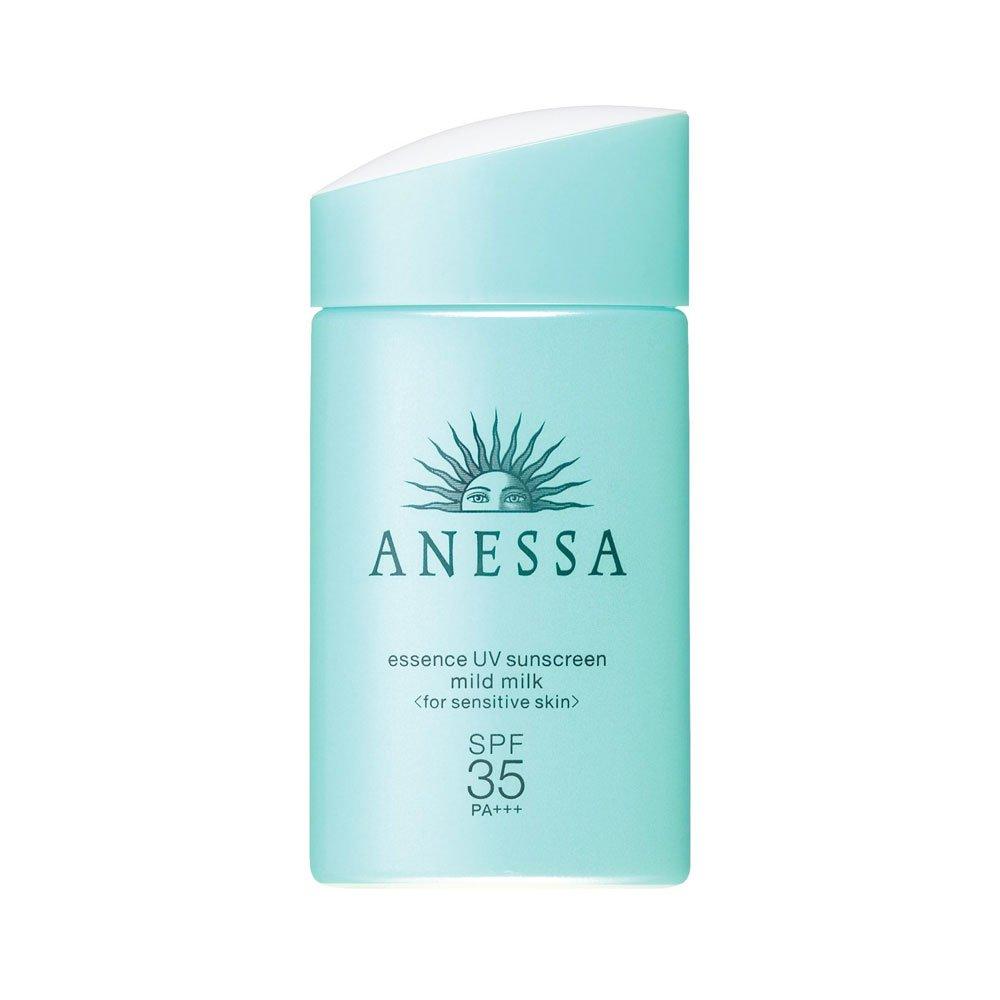 SHISEIDO New 2018 Anessa Essence UV Sunscreen Sensitive Skin Mild Milk SPF 35+ PA++++ 60ml – Made in Japan
