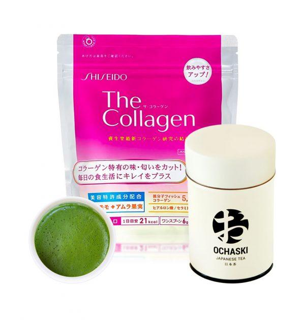 SHISEIDO The Collagen Powder x OCHASKI Kyoto Match Beauty Set Made in Japan