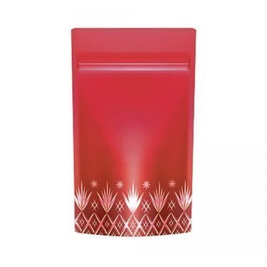 Stand Bag with Resealable Zipper Red Fire Made in Japan