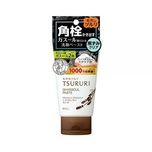 TSURURI Ghassoul Face Wash Paste Black Head Remover Made in Japan