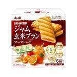 ASAHI Balance Up Jam Brown Rice Bran Orange Cookies Made in Japan