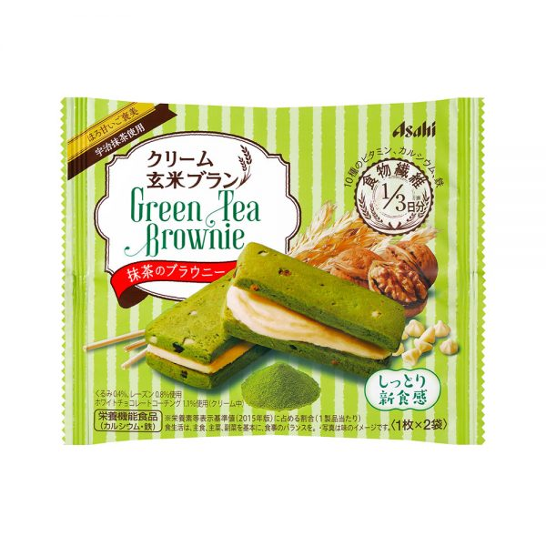 ASAHI Cream Genmai Brown Rice Brownie Matcha Made in Japan