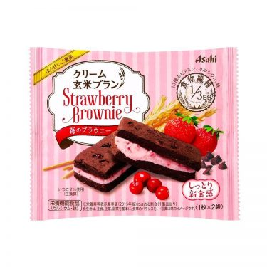 ASAHI Cream Genmai Brown Rice Brownie Strawberry Made in Japan