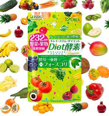 Ishokudogen iSDG 232 Diet Enzyme Premium Supplement 120 Tablets Made in Japan