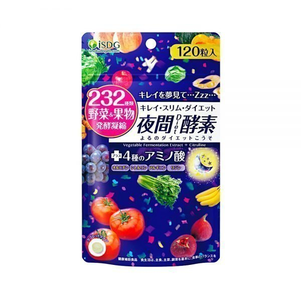 Ishokudogen iSDG 232 Night Diet Enzyme Supplement 120 Tablets Made in Japan