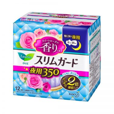 KAO Laurier Speed+SlimGuard Day Use Sanitary Pads 350 with Wings Made in Japan