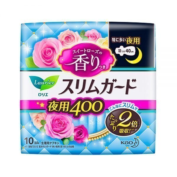 KAO Laurier Speed+SlimGuard Day Use Sanitary Pads 400 with Wings Made in Japan