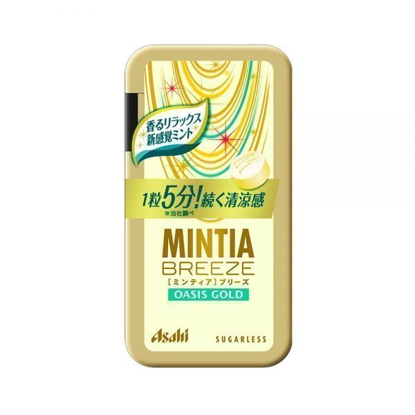 MINTIA Eight Breeze Mouth Oasis Gold Sugarles Tablets Made in Japan