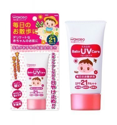 WAKODO Mirufuwa Baby UV Care Wading and Leisure SPF-35 Made in Japan