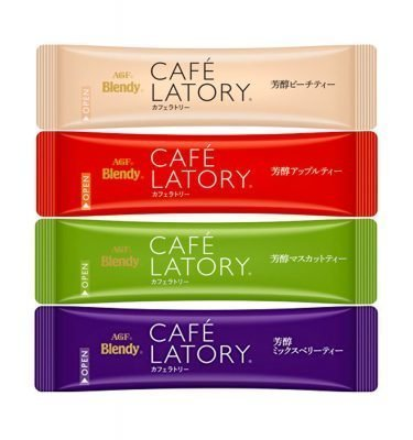 AGF BLENDY Cafe Latory Fruits 20 Sachets with 4 Flavours Made in Japan