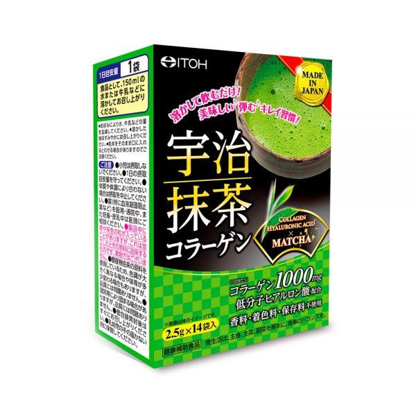 ITOH Collagen Hyaluronic Acid Matcha Powder Drink Sachets Made in JapanITOH Collagen Hyaluronic Acid Matcha Powder Drink Sachets Made in Japan