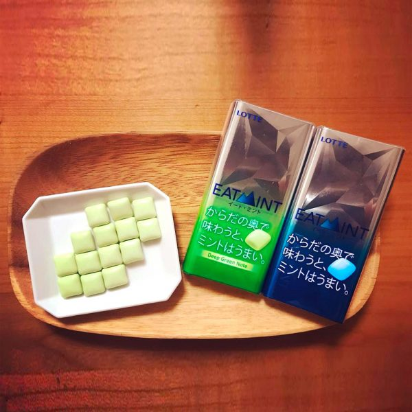 LOTTE Eat Mint Deep Green Note Mouth Refresh Melting Gum Made in Japan