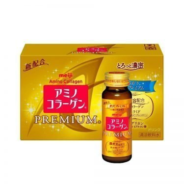 MEIJI Amino Collagen Premium Bottles Made in Japan