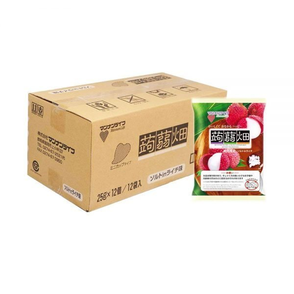 Mannan Life Konyakubatake Konjac Lychee Jelly Diet Dietary Fiber Made in Japan