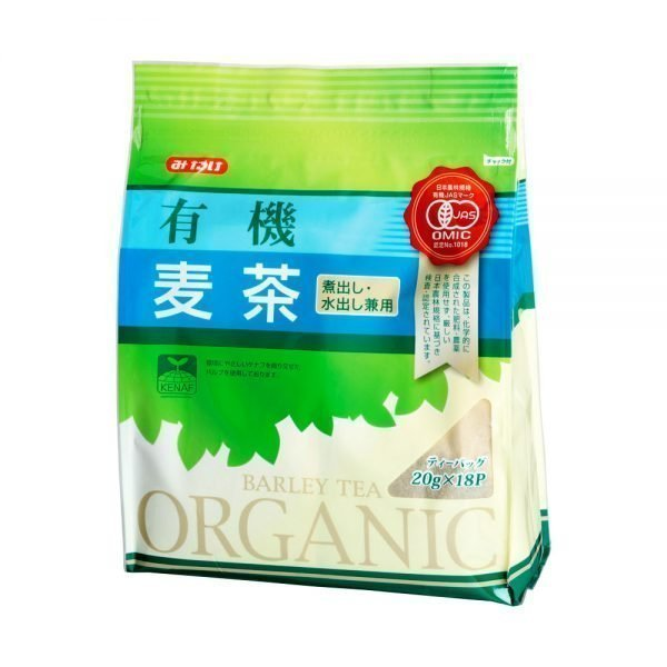 Mitake Organic Barley Tea Jas Teabags Made in Japan