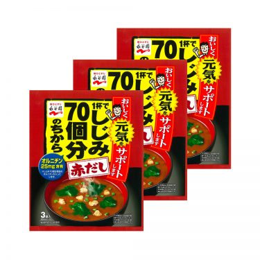 NAGATANIEN Instant Force Miso Soup Red Clam 70 Pieces Made in Japan