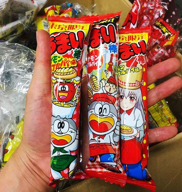 YAOKIN Umai Bar Umaibo Dagashi Snack Cynamon Apple Pie Made in Japan