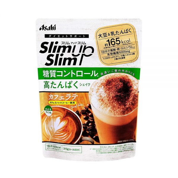ASAHI Slim Up Slim Cafe Decaf Latte Shake Sugar Control Made in Japan