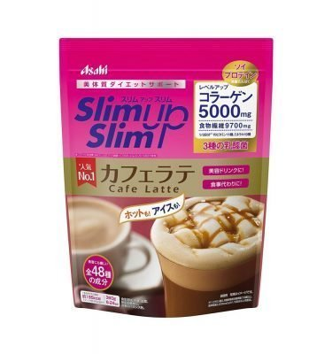 ASAHI Slim Up Slim Cafe Latte with Collagen Made in Japan