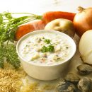 ASAHI Slim Up Slim Sprouting Brown Rice Cream Thick Clam Chowder with Collagen Made in Japan