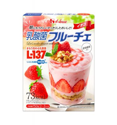 HOUSE Lactic Acid Bacteria Fruit Strawberries Pudding Dessert Made in Japan