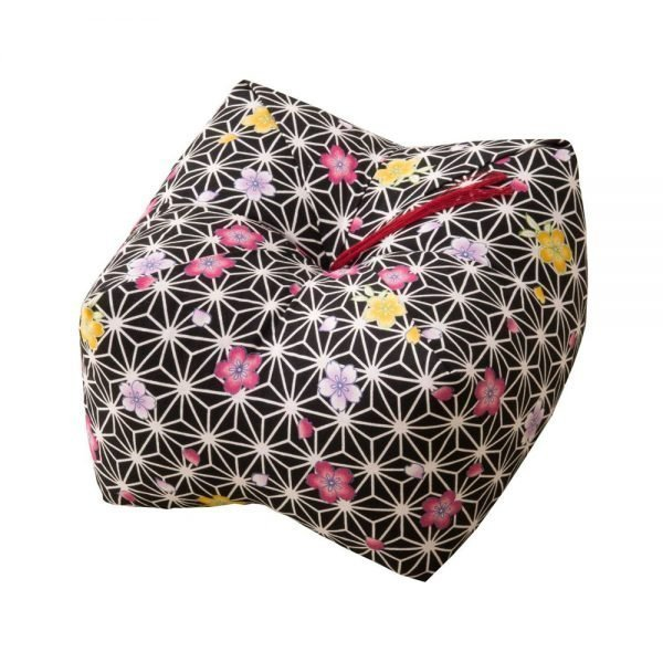 Japanese Sobagara Buckwheat Husk Cushion Pillow Dark Sakura Made in Japan