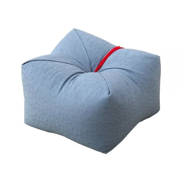 Japanese Sobagara Buckwheat Husk Cushion Pillow Light Blue Made in Japan