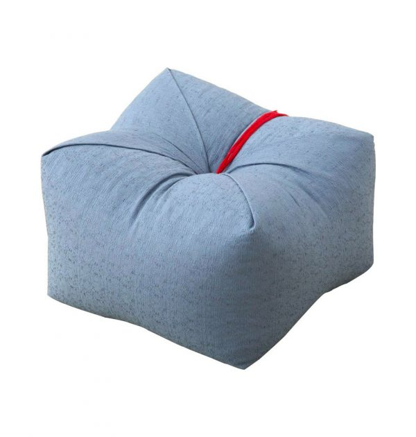 Japanese Sobagara Buckwheat Husk Cushion Pillow Light Blue Made in Japan