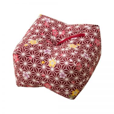 Japanese Sobagara Buckwheat Husk Cushion Pillow Light Sakura Made in Japan