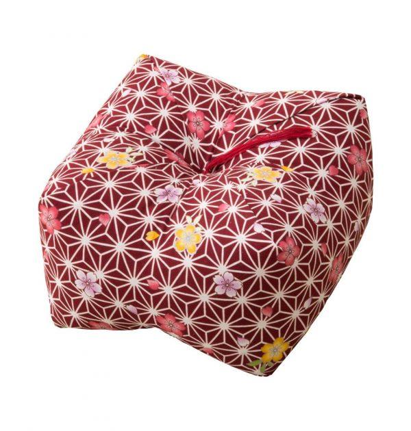 Japanese Sobagara Buckwheat Husk Cushion Pillow Light Sakura Made in Japan