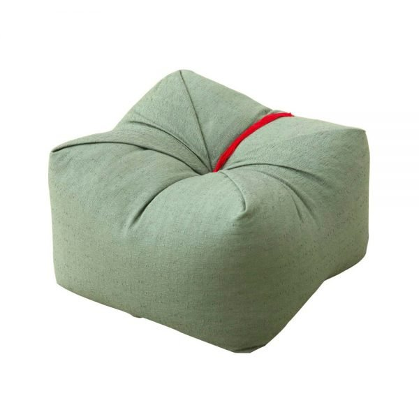 Japanese Sobagara Buckwheat Husk Cushion Pillow Matcha Green Made in Japan