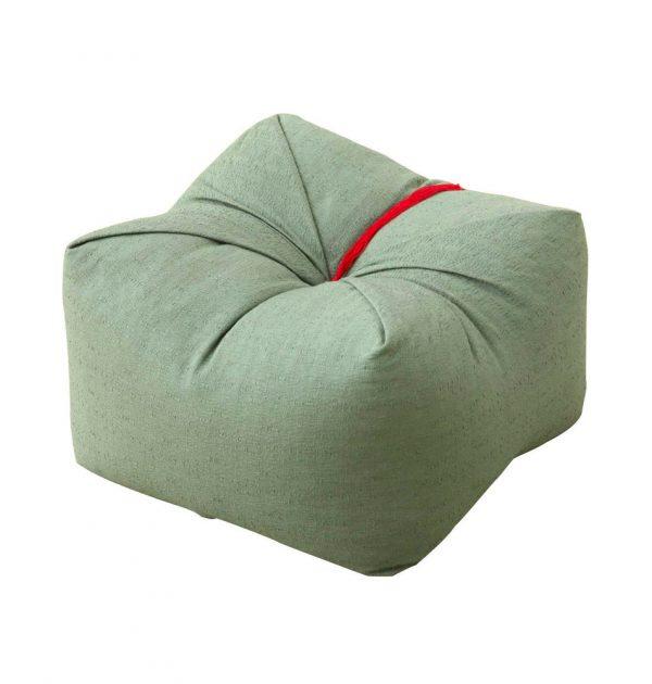 Japanese Sobagara Buckwheat Husk Cushion Pillow Matcha Green Made in Japan