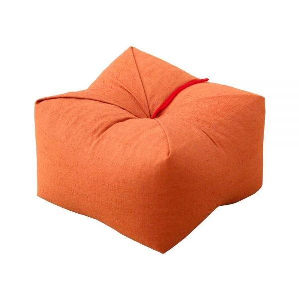 Japanese Sobagara Buckwheat Husk Cushion Pillow Orange Made in Japan