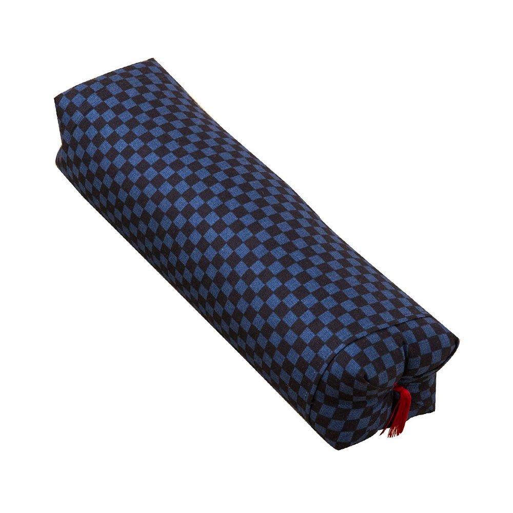 Japanese Sobagara Buckwheat Husk Pillow Navy Blue Made