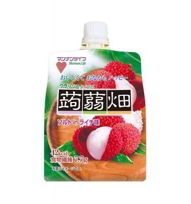 MANNALIFE Konyakubatake Konjac Lychee Jelly Diet Dietary Fibre Made in Japan