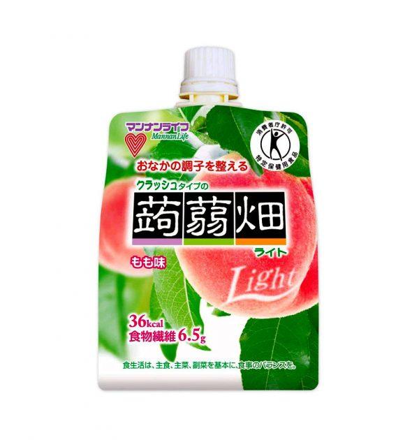 MANNAN LIFE Konyakubatake Konjac Peach Jelly Dietary Fiber Made in Japan