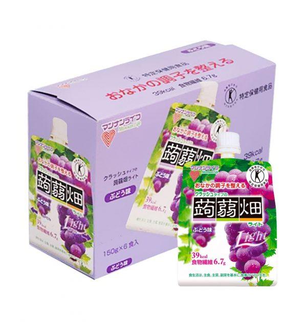 MANNANLIFE Konyakubatake Konjac Grapes Jelly Diet Dietary Fiber Made in Japan