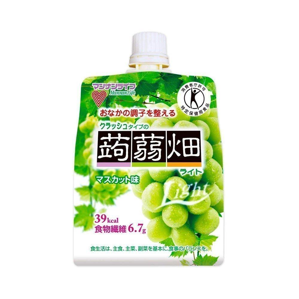 MANNALIFE Konyakubatake Konjac Muscat Grapes Jelly Diet Dietary Fiber 150g  x 6 Bags - Made in Japan
