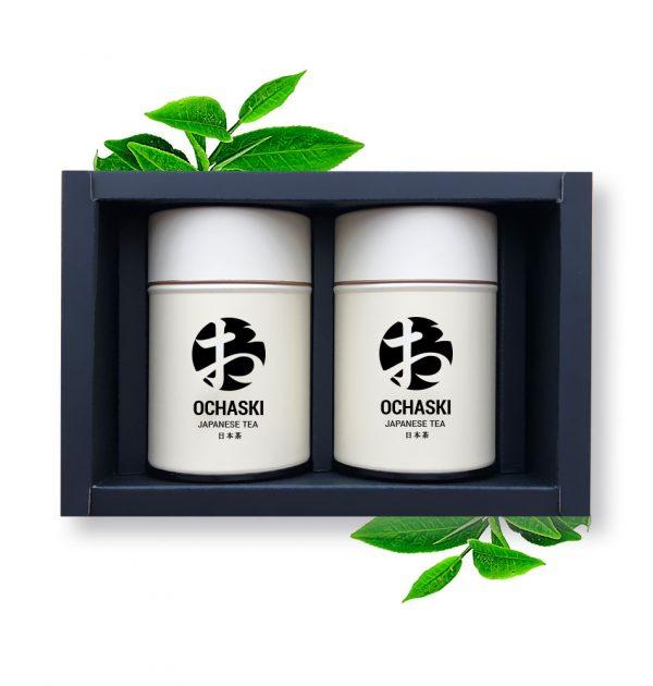 OCHASKI KYOMA + GENMA Box Kyoto Organic Matcha & Genmaicha Made in Japan